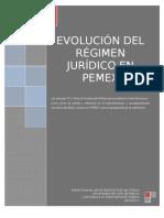 Evolución del régimen júrídico del patrimonio de Petróleos Mexicanos