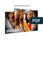 Finalis Miss Malaysia 2013