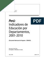 Indicadores Por Departamentos 2001-2010