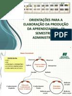 Orientações PA  - 5 semestre_Adm