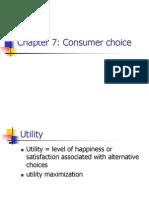 Chap7- Consumer Choice