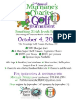 Golf Tournament 2013 Flyer