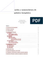 Formulacion y Nomenclatura Quimica Inorganica