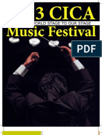 Music Festival Program Book