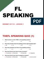 TOEFL Speaking Intro