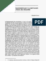 Argumentos Trascendentales y La Refutacion Kantiana Del Idealismo