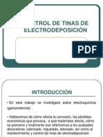 Control de Tinas de electrodeposiciòn COMMELT