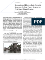 Modelling and Simulation of Photovoltaic-Variable Speed Diesel Generator Hybrid Power System for Off-Grid Rural Electrification