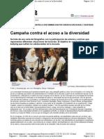 Campaña contra el acoso a la diversidad-pagina12