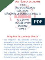 Exposicion de Maquinas de Corriente Continua Mueses-ruiz,Sanchez