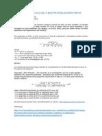 Formula Para Cc3a1lculo de La Muestra Poblaciones Finitas Var Categorica