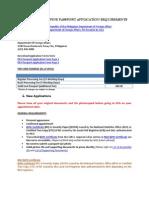 Philippine Passport Application Requirements