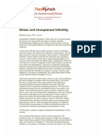Stress and Unexplained Infertility