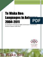New Zealand Te Waka Reo Languages in Aotearo 2004 2011