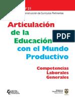 Guia 21 Articulacion de La Educacion Con El Mundo
