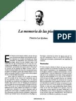 La Memoria de Las Piedras. Pierre Le Queau
