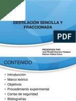 DESTILACIÓN SENCILLA Y FRACCIONADA.