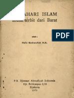 MATAHARI ISLAM Mulai Terbit Dari Barat-Hafiz Qudratullah H.a.