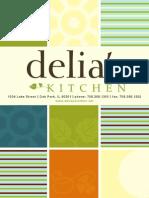 Delia's Kitchen Breakfast Lunch Menu - Oak Park, IL