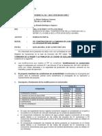 Informe Sustentatorio de Variaciones Formato SNIP 16.
