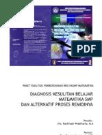 Diagnosis Kesulitan Belajar Matematika