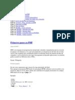 Primeros Pasos en PHP