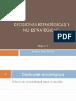 Decisiones estratégicas y no estratégicas