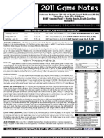 Myrtle Beach Pelicans Game Notes 6-23-2011