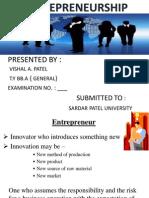 Entrepreneurship management.....