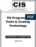PG Program in Paint & Coating Technology-April-2013