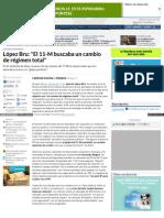 López Bru El 11-M buscaba un cambio de régimen total