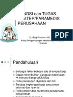 Peran Dan Fungsi Dokter Perusahaan
