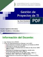 Presentación del Curso - Gestión de Proyectos Ing Informatica