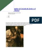 Cómo contemplar el Corazón de Jesús y el Corazón de María oracion de sanacion