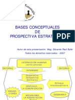 Bases Conceptuales de Prospectiva Estratégica
