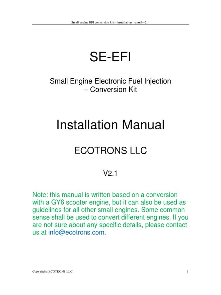 Se Efi Installation Manual