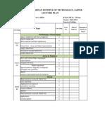 DSA Lecture Plan