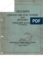 Triumph Herald 1200, 12/50, Vitesse and Spitfire Workshop Manual