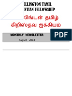 Wellington Tamil Christian Fellowship News Letter - August 2013