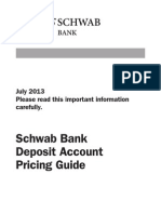 Schwab Bank Deposit Account Pricing Guide