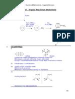 Topic 10.1 2009 Organic Rxn n Mechanisms Prelim Soln