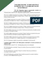 Lista de Standarde Pentru Echipamentele Mecanice de Protectie a Valorilor Umane