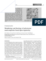 Morphology and Rheology of Polystyrene Nano Composites Based Upon clay