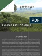 Tsx Esperanza Gold Usd69.4m 0712 2013