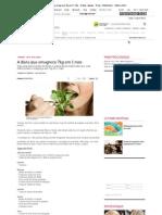 A dieta que emagrece 7kg em 1 mês - Dietas rápidas - Dieta - MdeMulher - Editora Abril