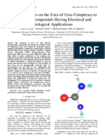 Chemical Studies on the Uses of Urea Complexes to Synthesize Compounds Having Electrical and Biological Applications