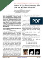 FPGA Implementation of Face Detection using Skin Segmentation and Ada Boost Algorithm