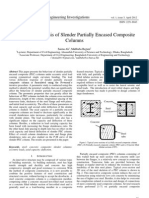 Numerical Analysis of Slender Partially Encased Composite