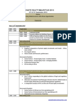 Private Equity 2013 Programme