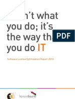 Software License Optimization Report 2013